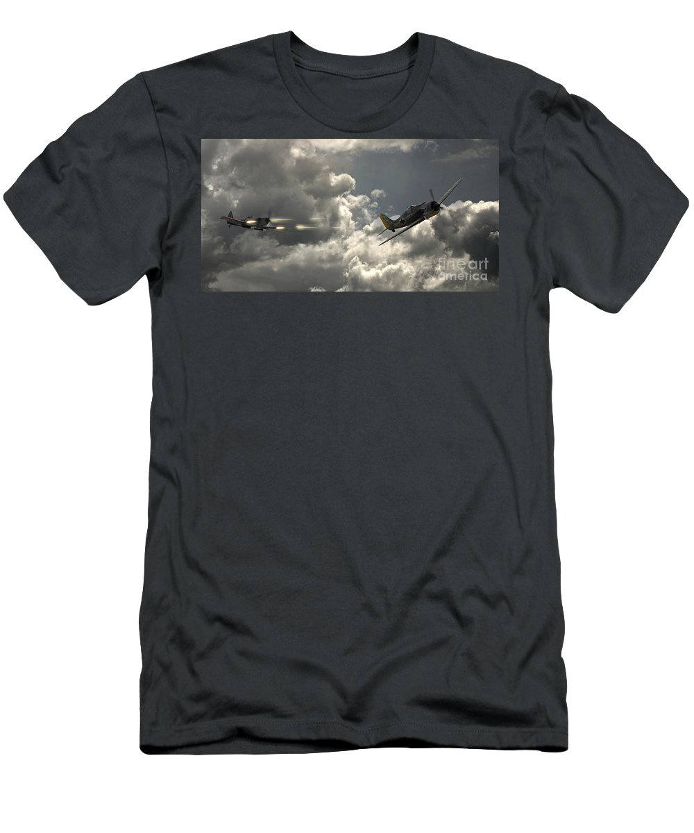 Raf Spitfire Men's T-Shirt (Athletic Fit) featuring the digital art Take The Shot by J Biggadike