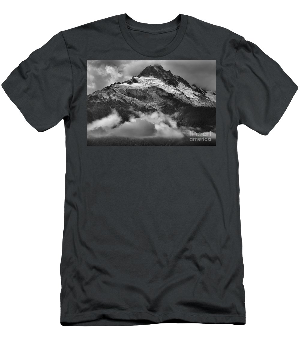 Glacier Mountains Men's T-Shirt (Athletic Fit) featuring the photograph Tantalus Mountains - Canadian Coastal Mountain Range by Adam Jewell