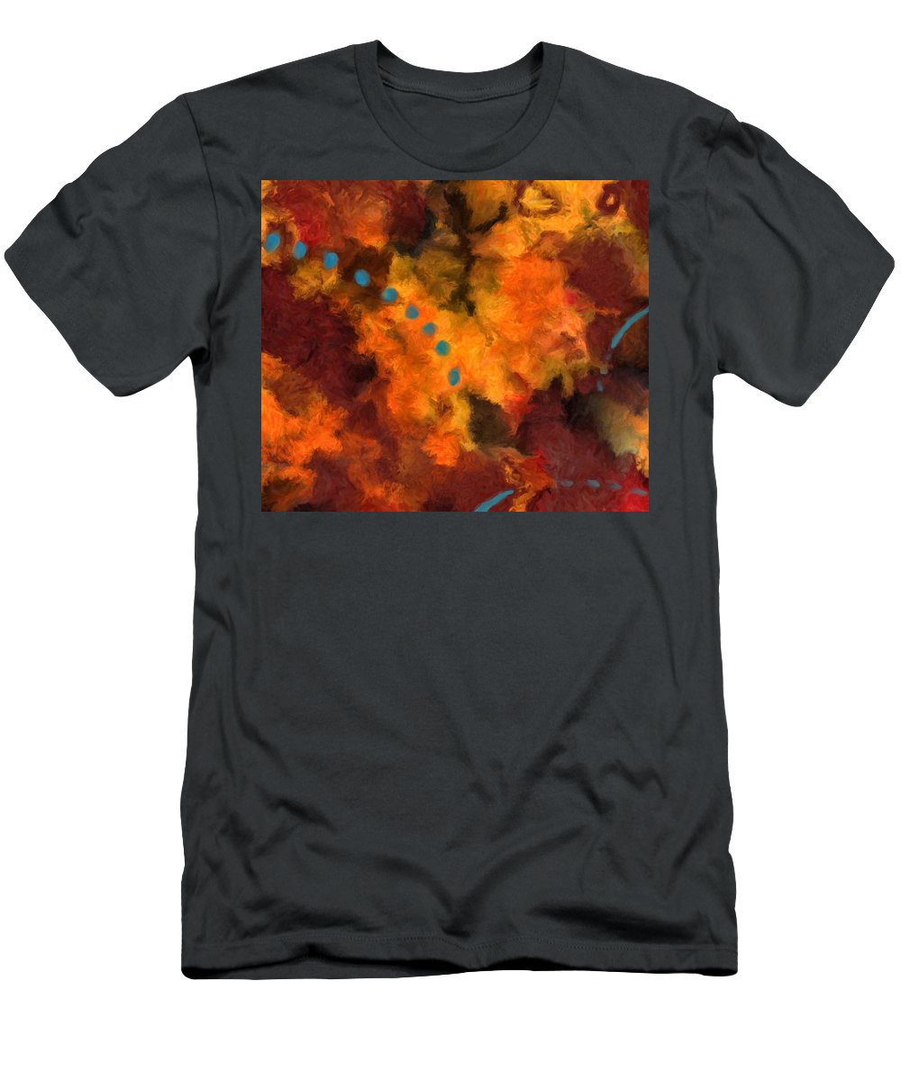 Abstract Men's T-Shirt (Athletic Fit) featuring the painting Teal Dots by Michael Pickett