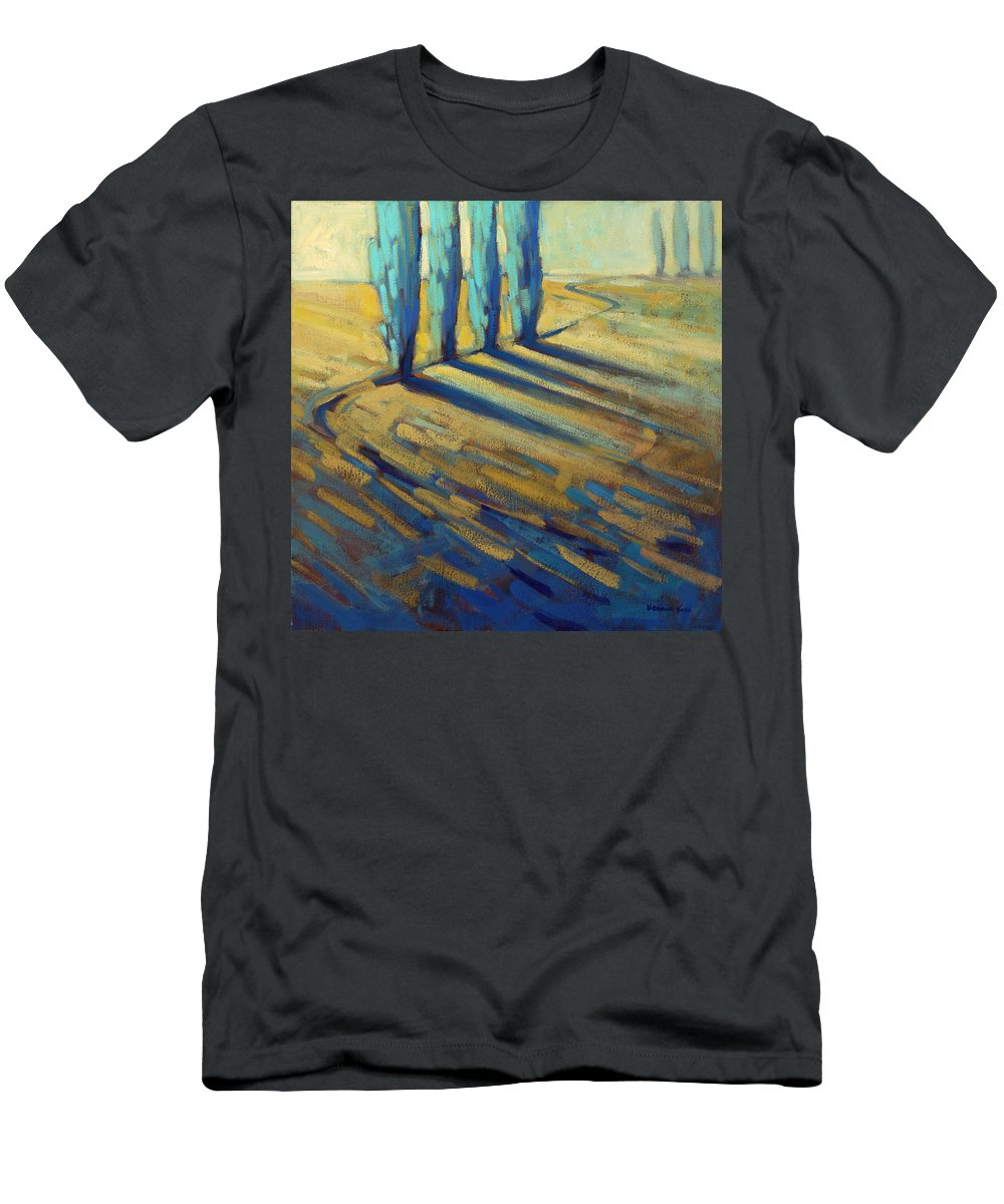 California Men's T-Shirt (Athletic Fit) featuring the painting Teal by Konnie Kim