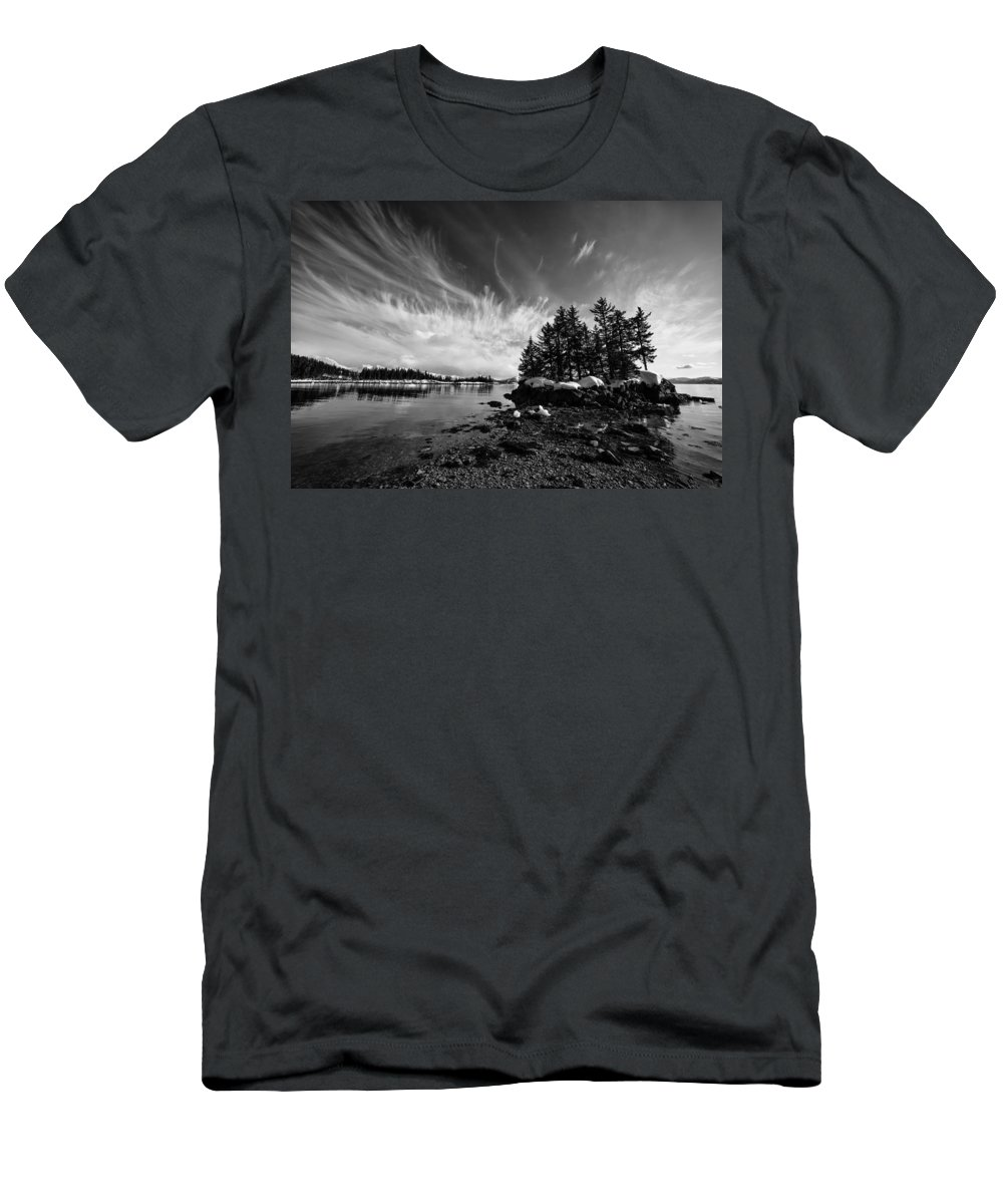 Prince William Sound Men's T-Shirt (Athletic Fit) featuring the photograph Tendrils by Ted Raynor