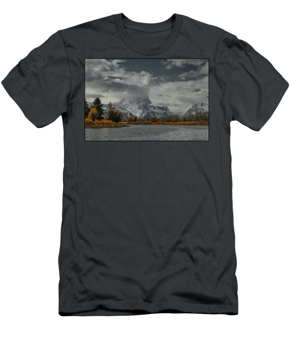 Lake Men's T-Shirt (Athletic Fit) featuring the photograph Teton by Erika Fawcett
