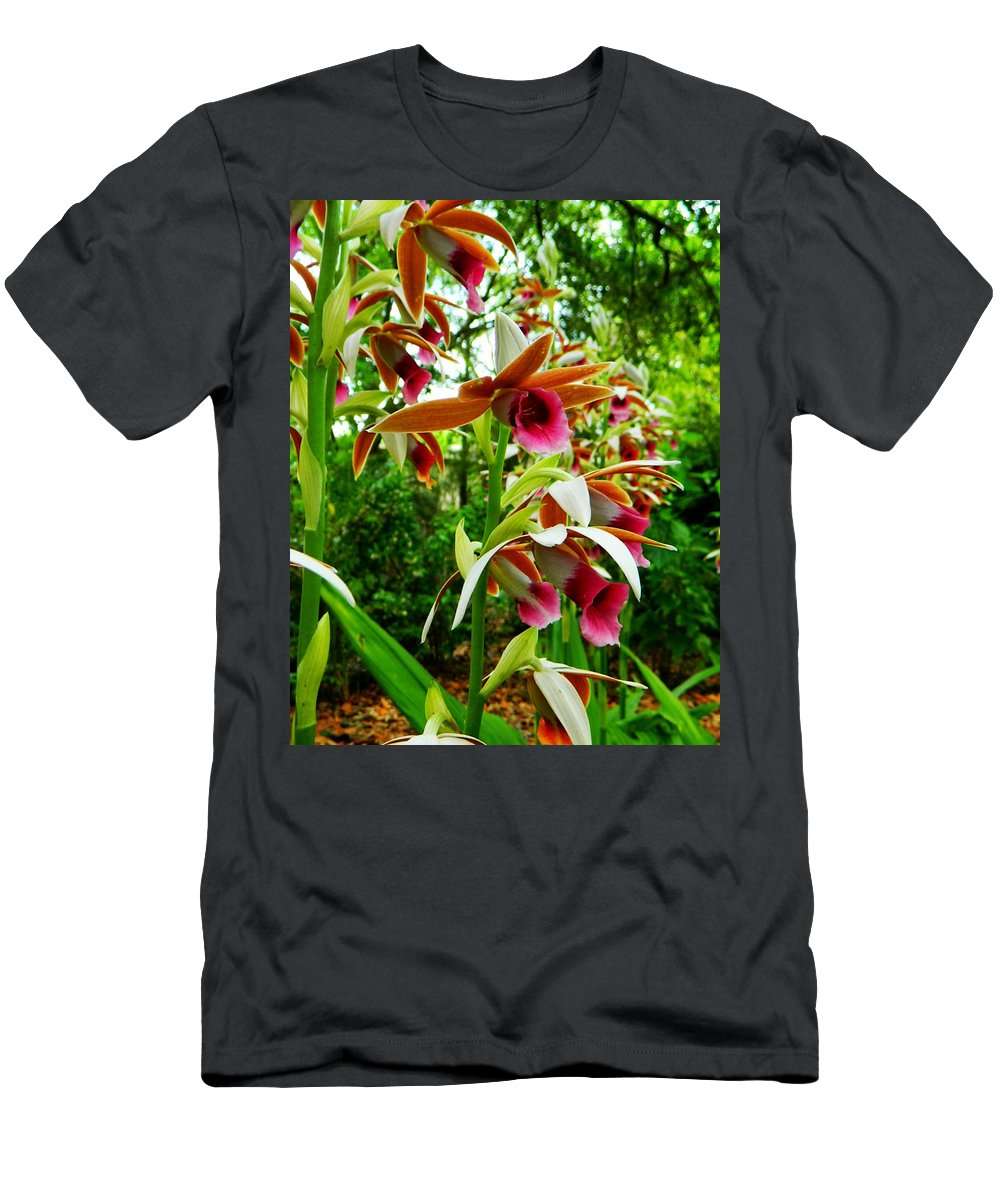 Orchids Men's T-Shirt (Athletic Fit) featuring the photograph Texas Orchids by Shere Crossman
