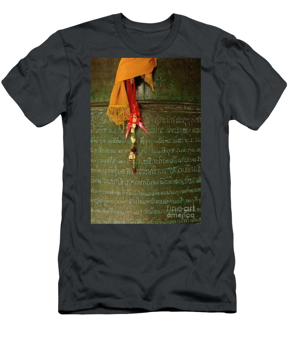 Photo Men's T-Shirt (Athletic Fit) featuring the photograph Thai Bell by Bob Christopher