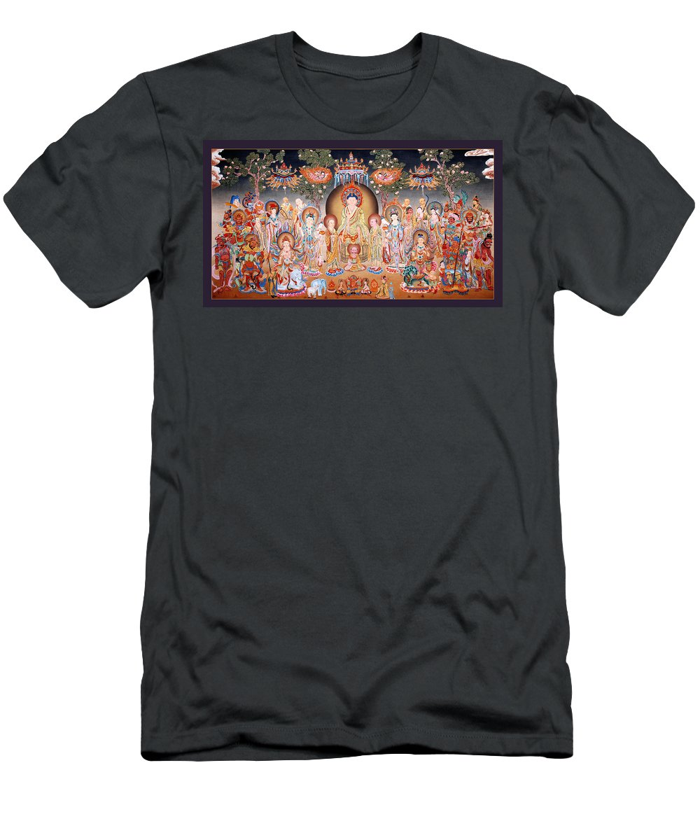 Thangka Men's T-Shirt (Athletic Fit) featuring the painting Buddha Art Thangka by Ts