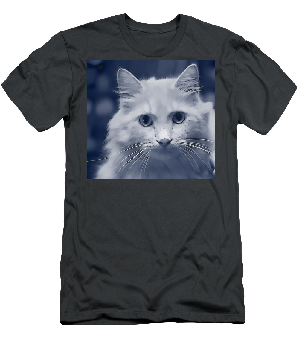 Cat Men's T-Shirt (Athletic Fit) featuring the photograph That Cat by Alice Gipson