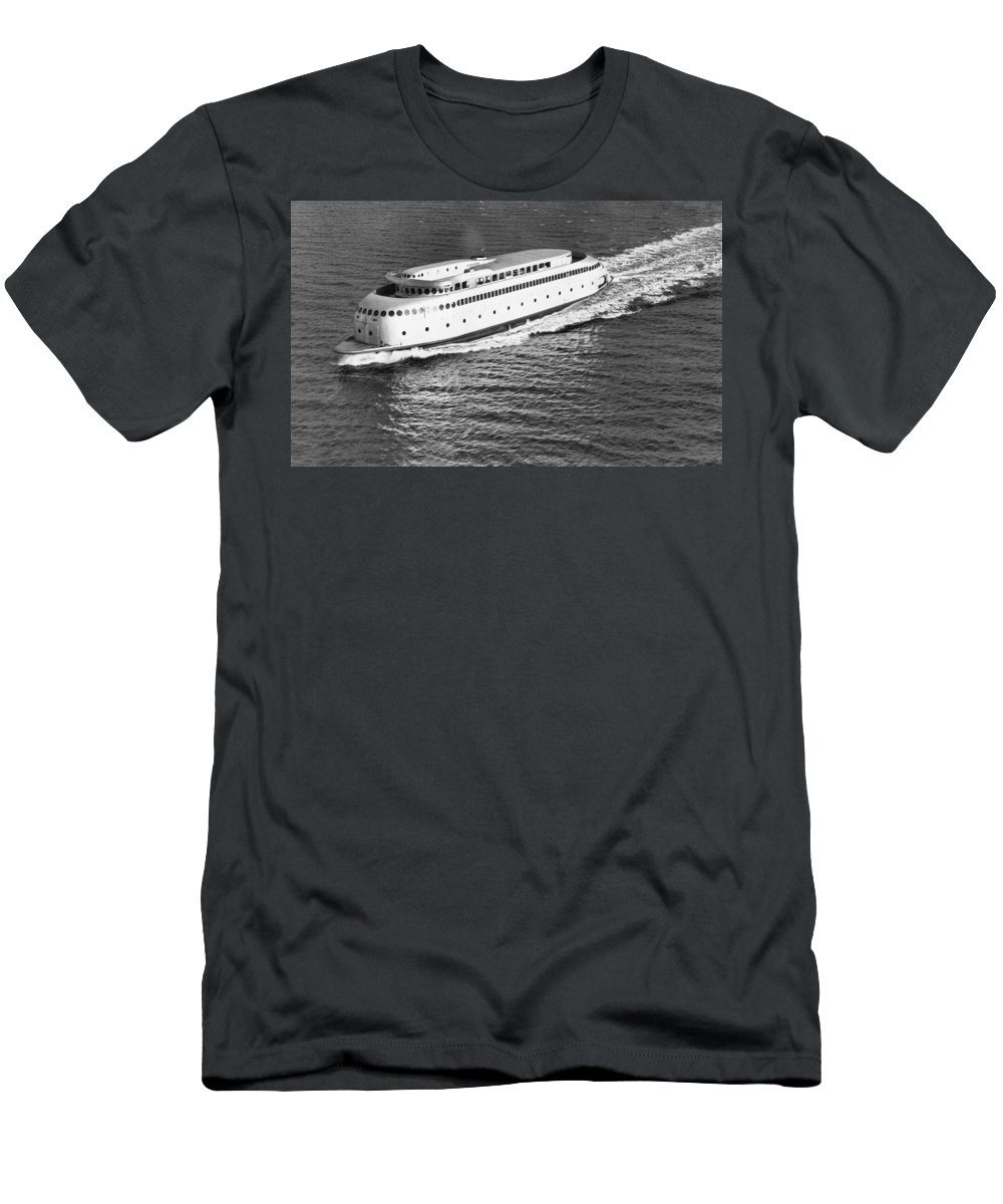 1930's Men's T-Shirt (Athletic Fit) featuring the photograph The Art Deco Ferry Kalakala by Underwood Archives