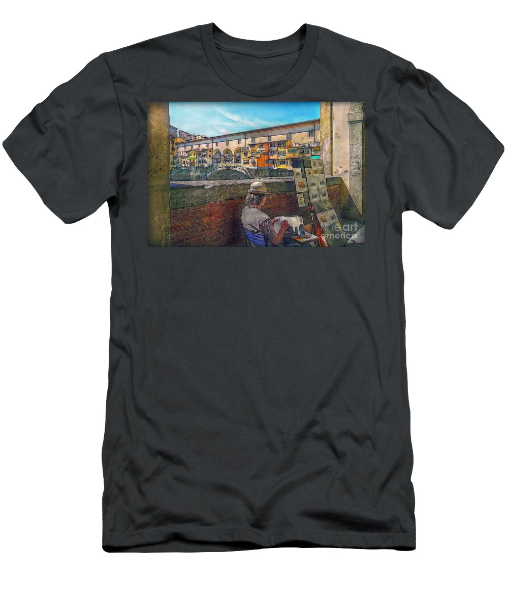 Artist Men's T-Shirt (Athletic Fit) featuring the photograph The Artist by Hanny Heim