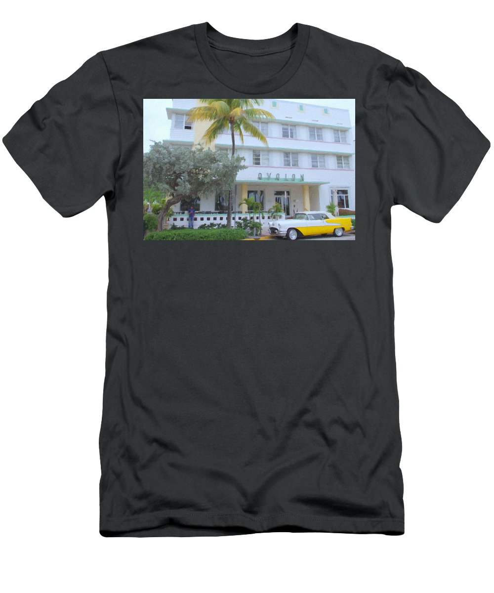 Art Deco Men's T-Shirt (Athletic Fit) featuring the photograph The Avalon by Tom Reynen