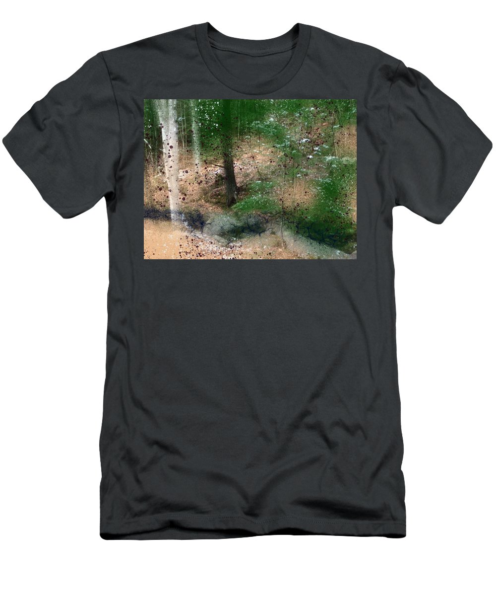 Stream Men's T-Shirt (Athletic Fit) featuring the painting The Balm by Bill Minkowitz