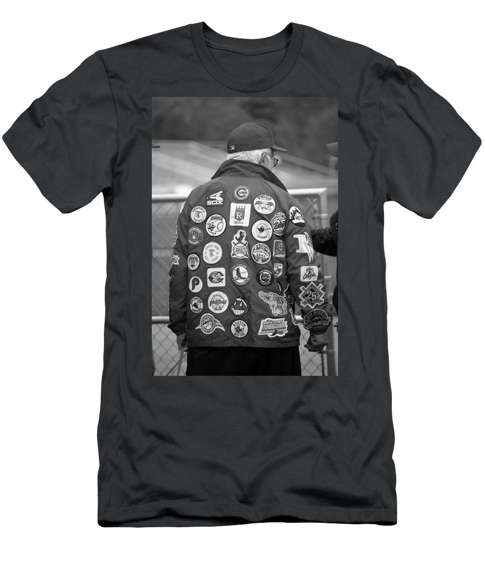 America Men's T-Shirt (Athletic Fit) featuring the photograph The Baseball Fan by Frank Romeo