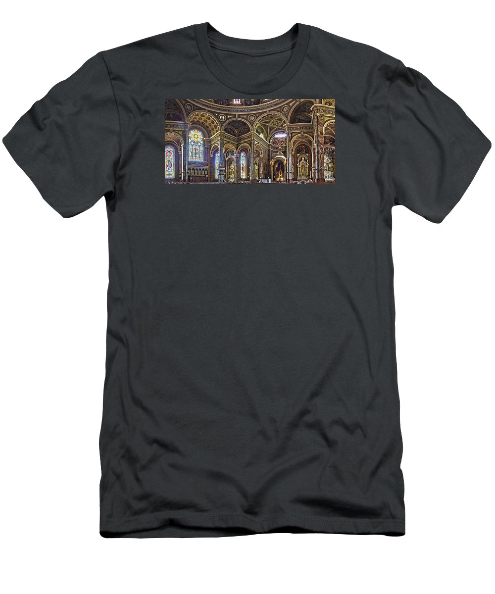 Basilica Men's T-Shirt (Athletic Fit) featuring the photograph The Basilica Of St. Josaphat by Daniel George