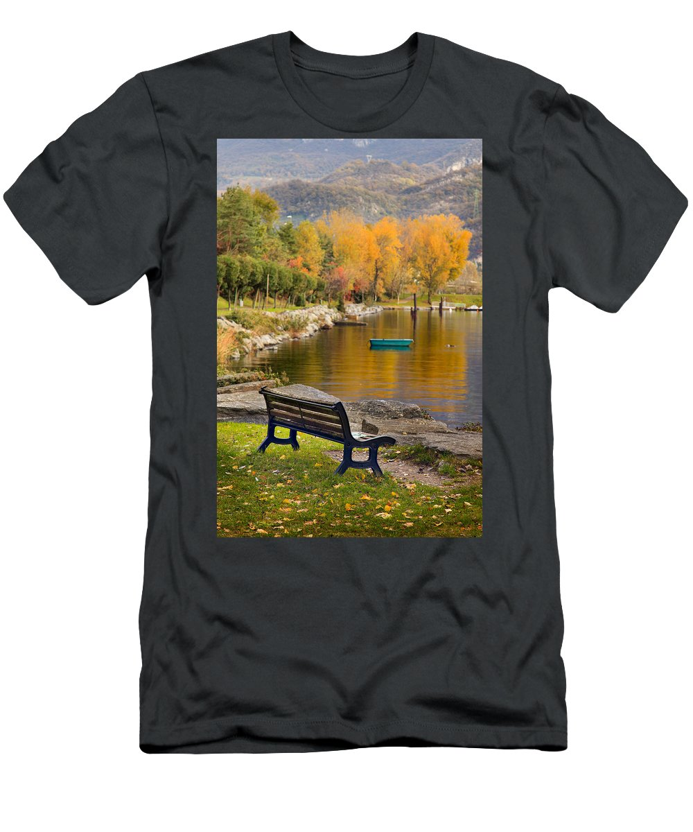 Bench Men's T-Shirt (Athletic Fit) featuring the photograph The Bench by Alfio Finocchiaro