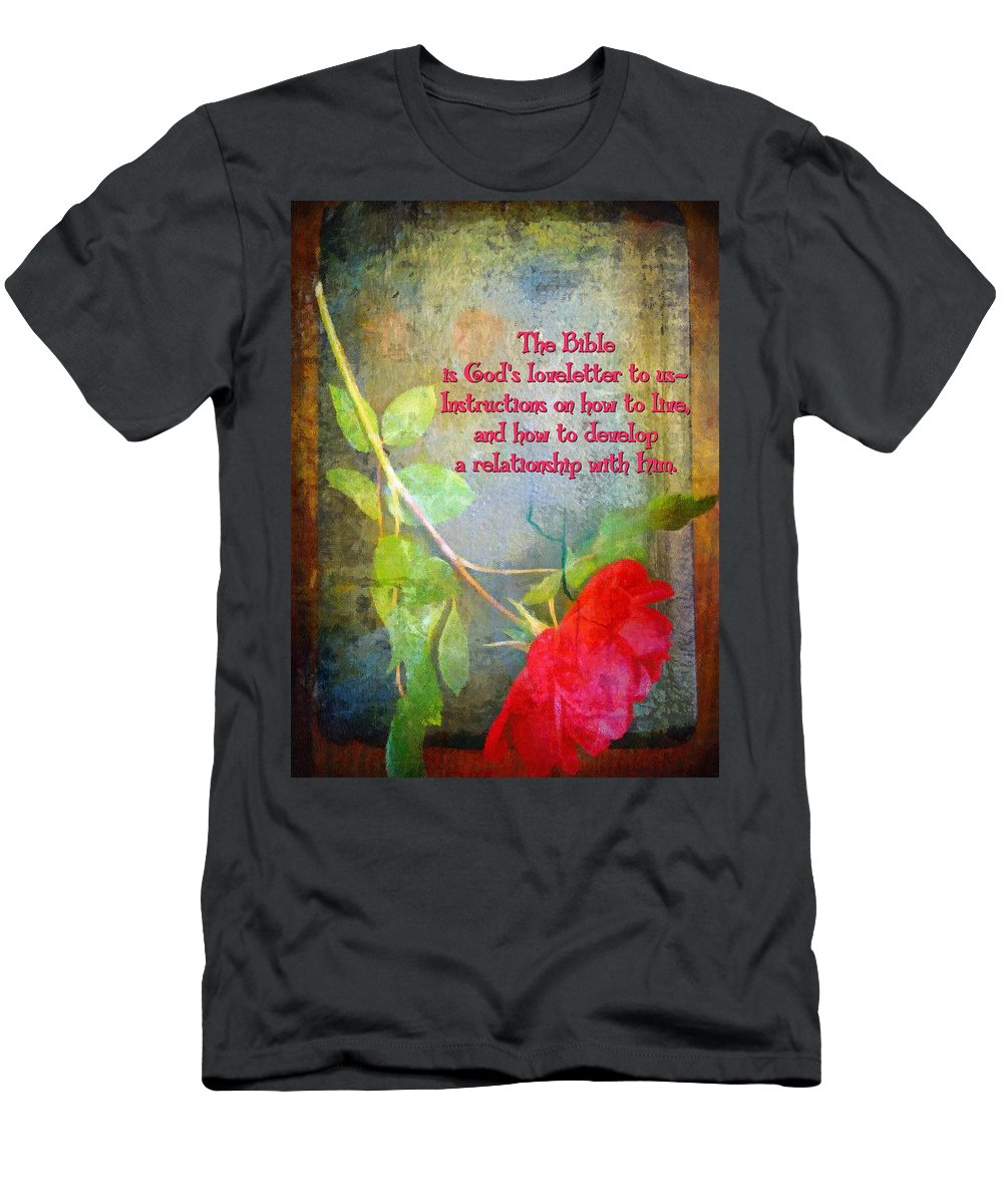 Jesus Men's T-Shirt (Athletic Fit) featuring the digital art The Bible by Michelle Greene Wheeler