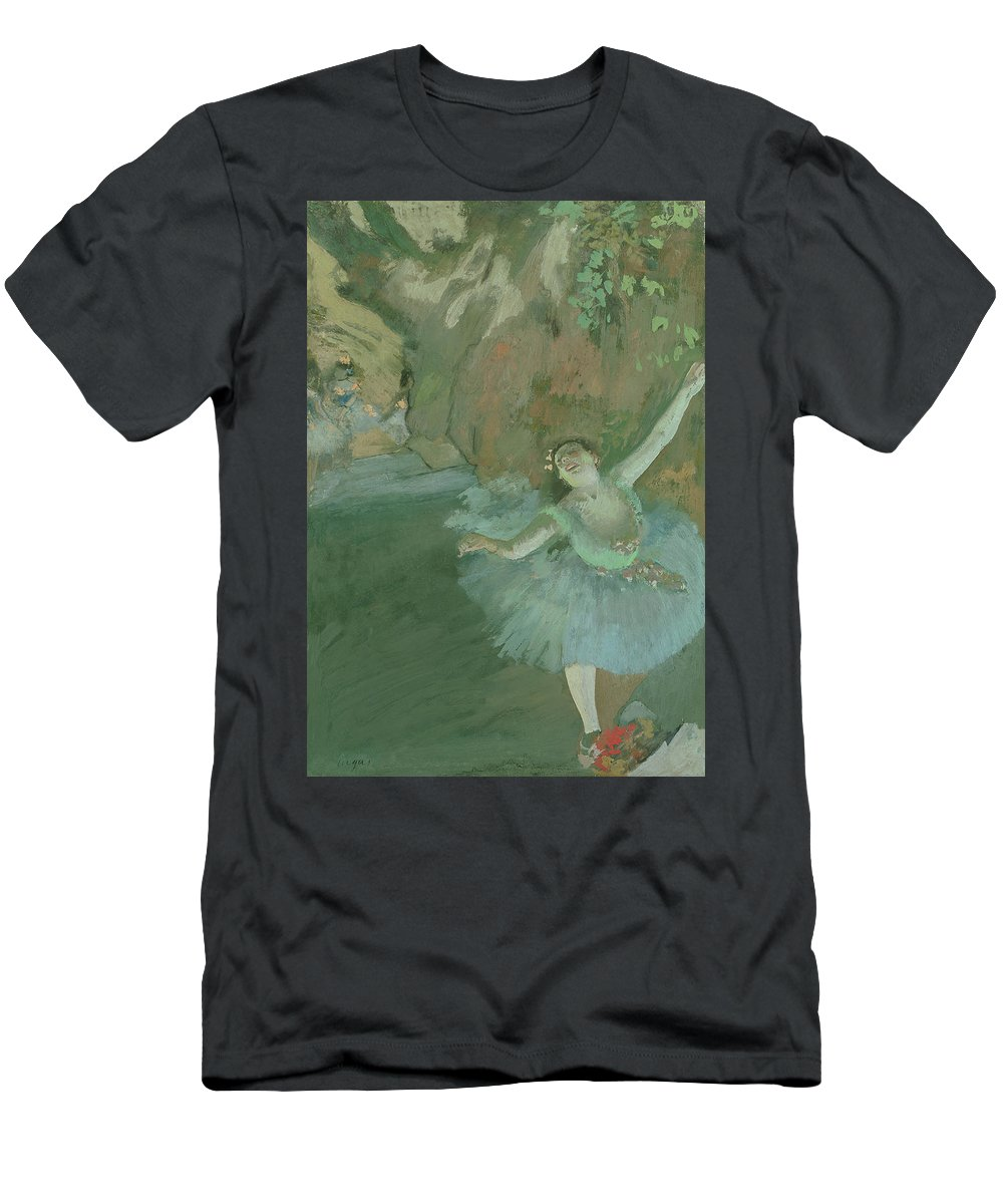 Female Men's T-Shirt (Athletic Fit) featuring the painting The Bow Of The Star by Edgar Degas
