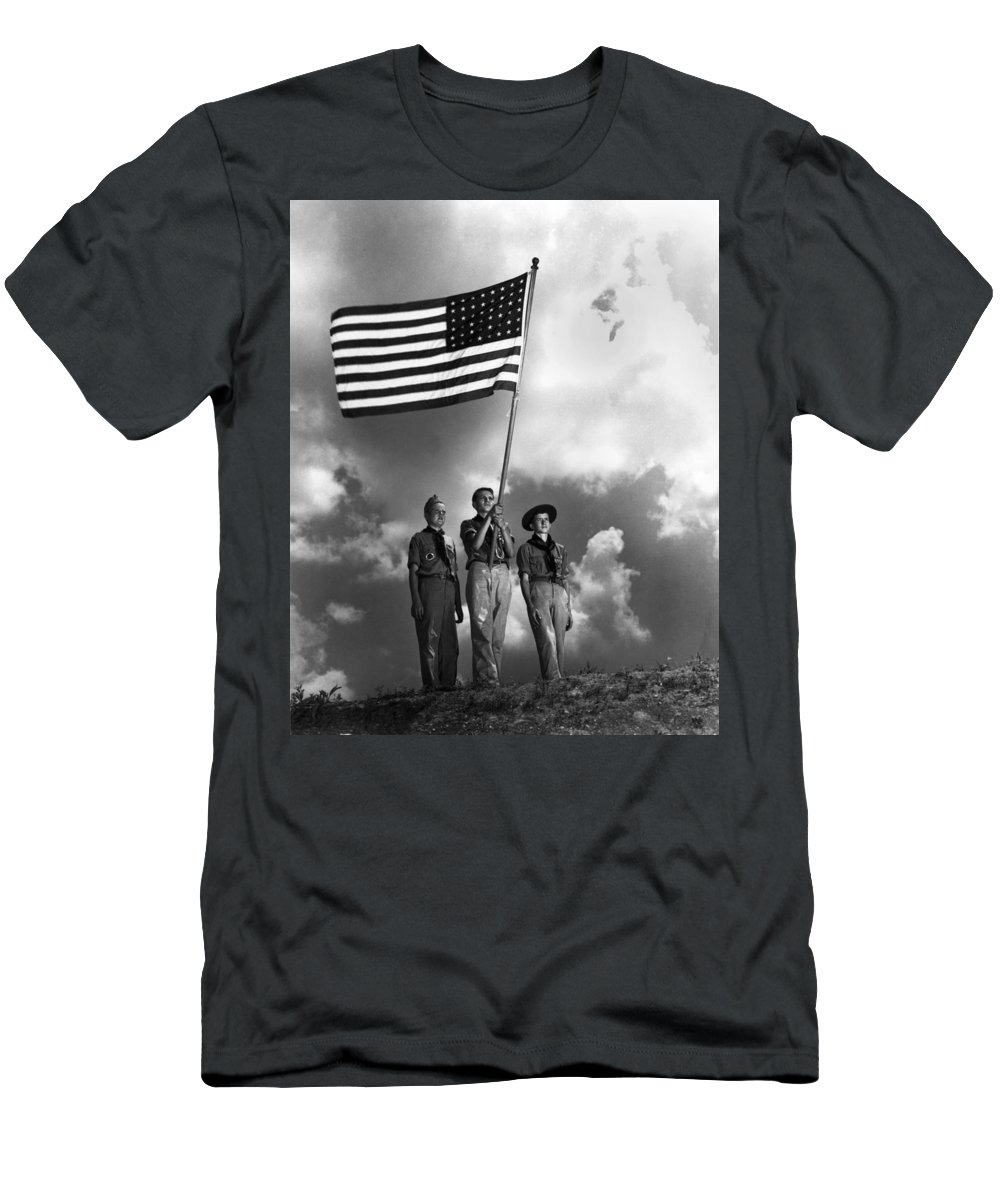 Boy Scouts Men's T-Shirt (Athletic Fit) featuring the photograph The Boy Scouts by Mountain Dreams