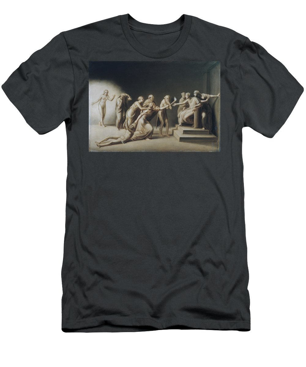 John Vanderlyn Men's T-Shirt (Athletic Fit) featuring the painting The Calumny Of Apelles by John Vanderlyn