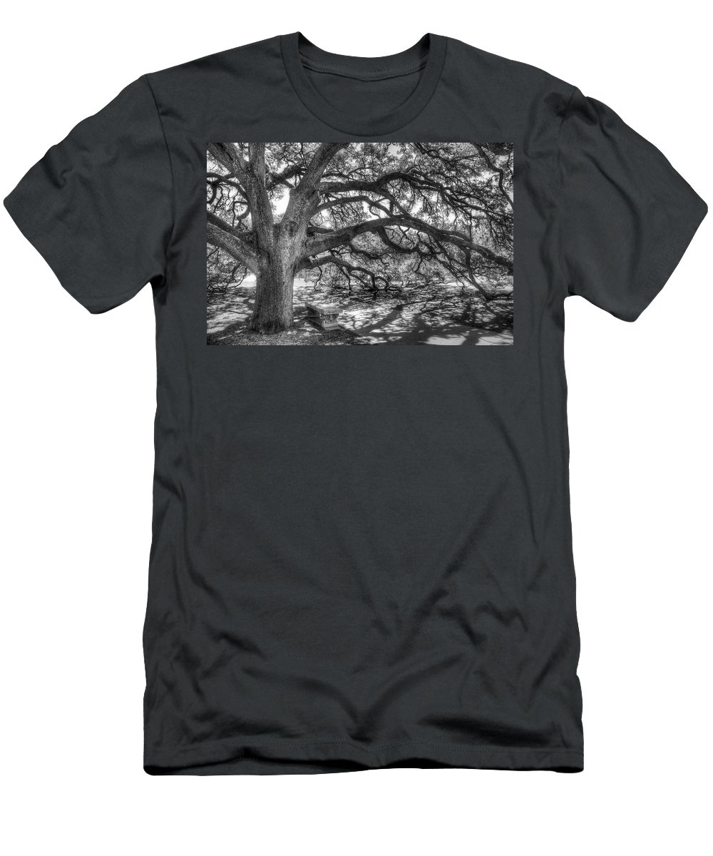 Tree Men's T-Shirt (Athletic Fit) featuring the photograph The Century Oak by Scott Norris