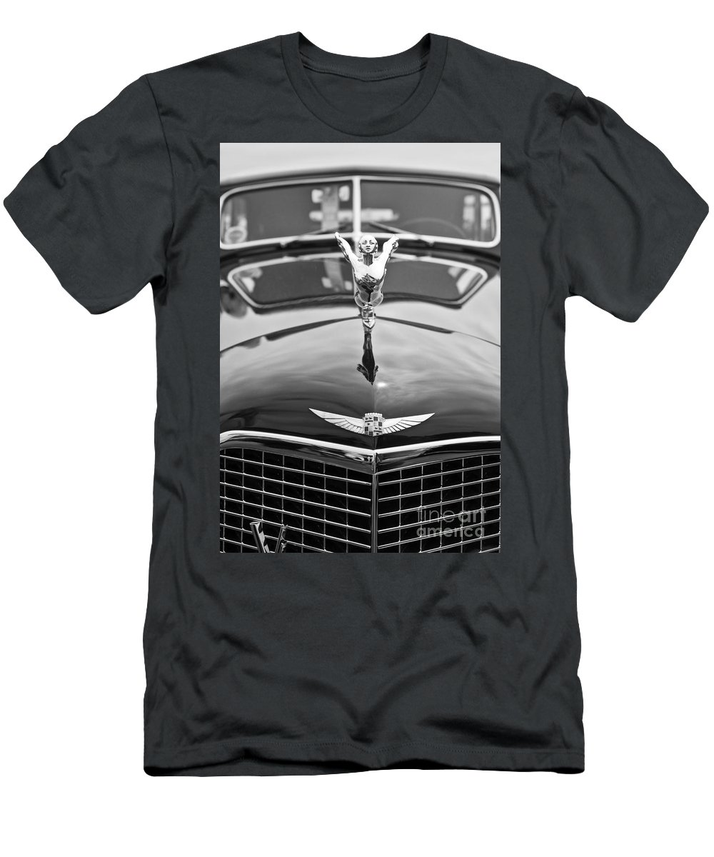 Concours D'elegance Men's T-Shirt (Athletic Fit) featuring the photograph The Classic Cadillac Car At The Concours D Elegance. by Jamie Pham