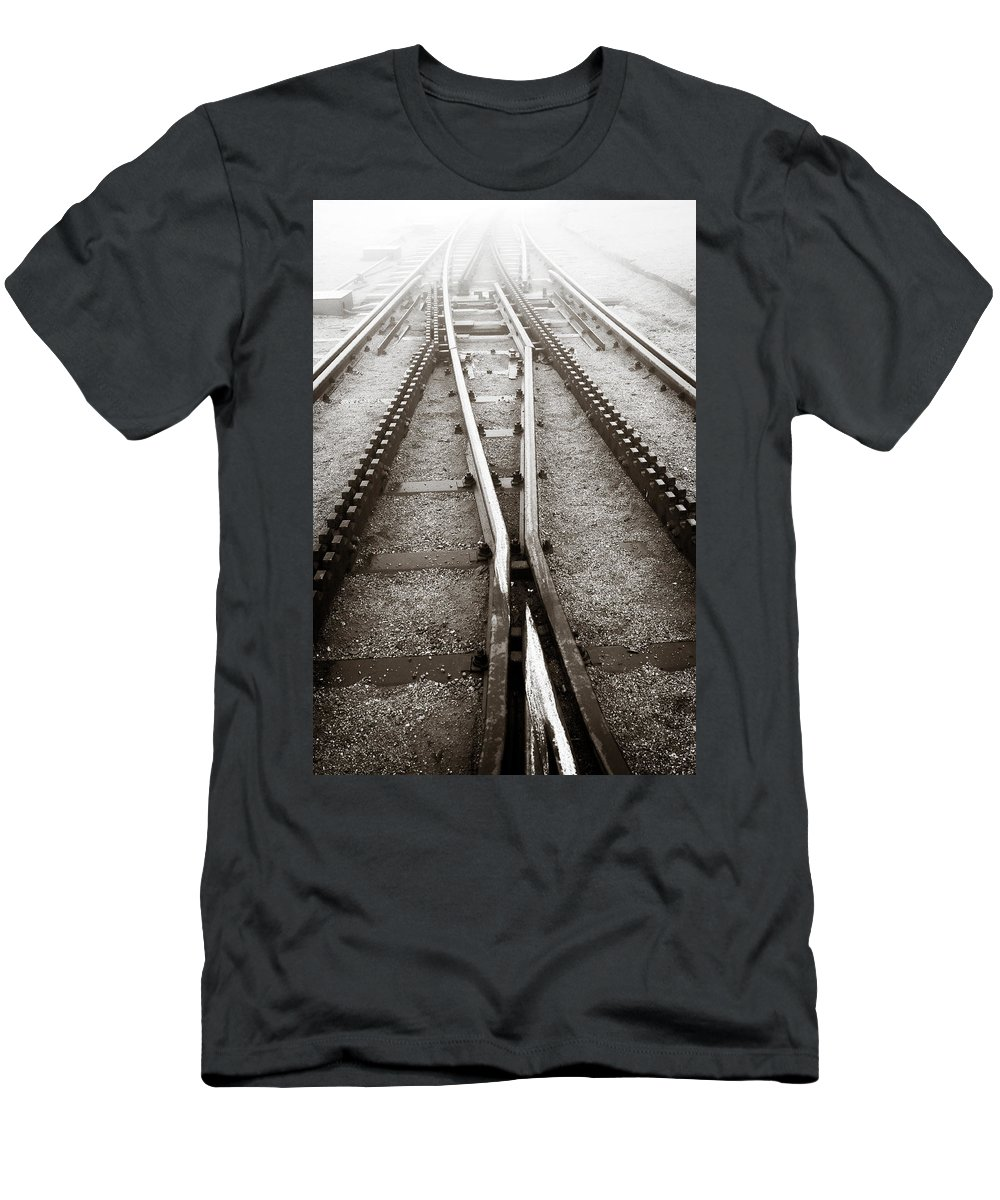 Weather T-Shirt featuring the photograph The Cog Railway by Marilyn Hunt