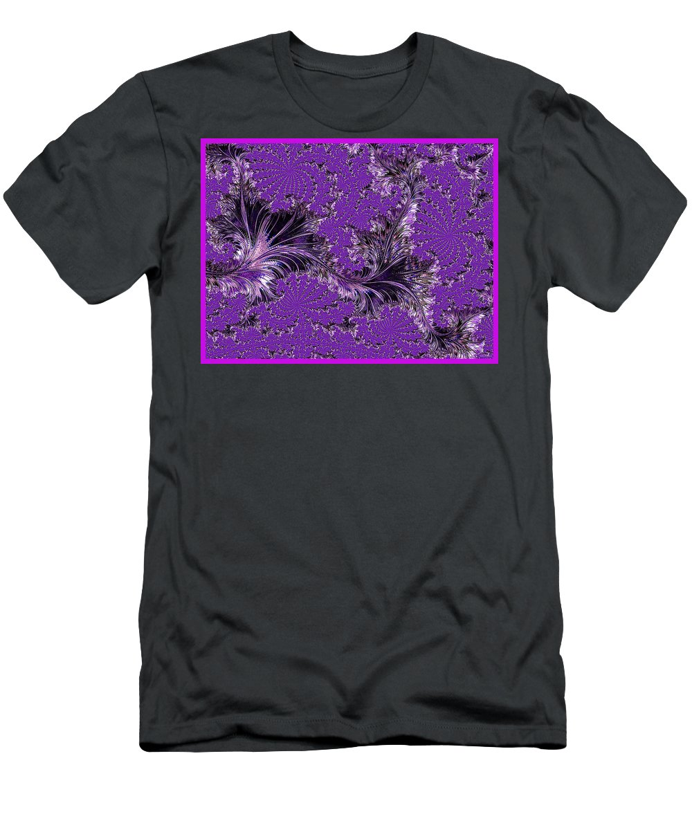 Abstract Men's T-Shirt (Athletic Fit) featuring the photograph The Color Purple by Barbara Zahno