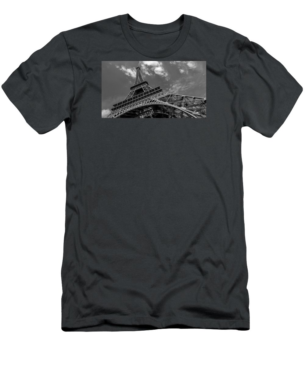 France Men's T-Shirt (Athletic Fit) featuring the photograph The Eiffel Tower by Ayhan Altun