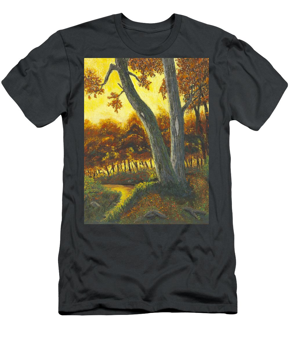 Trees Men's T-Shirt (Athletic Fit) featuring the painting The Elders by Garry McMichael