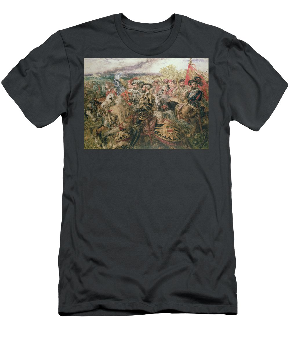 Armour Men's T-Shirt (Athletic Fit) featuring the painting The Field Of The Cloth Of Gold, 1520 by Sir John Gilbert