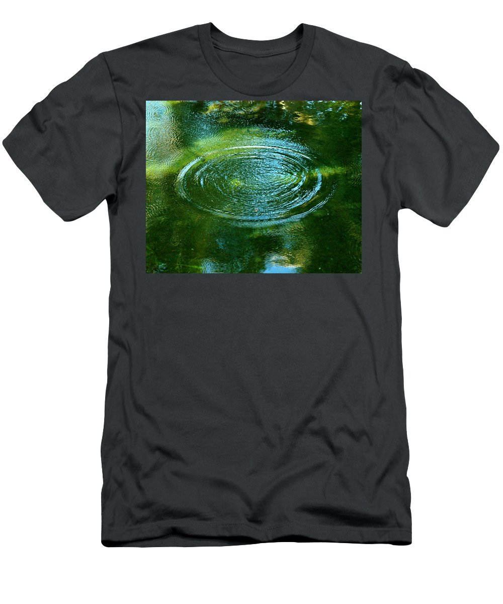 Pond Men's T-Shirt (Athletic Fit) featuring the photograph The Fish Pond by Lehua Pekelo-Stearns