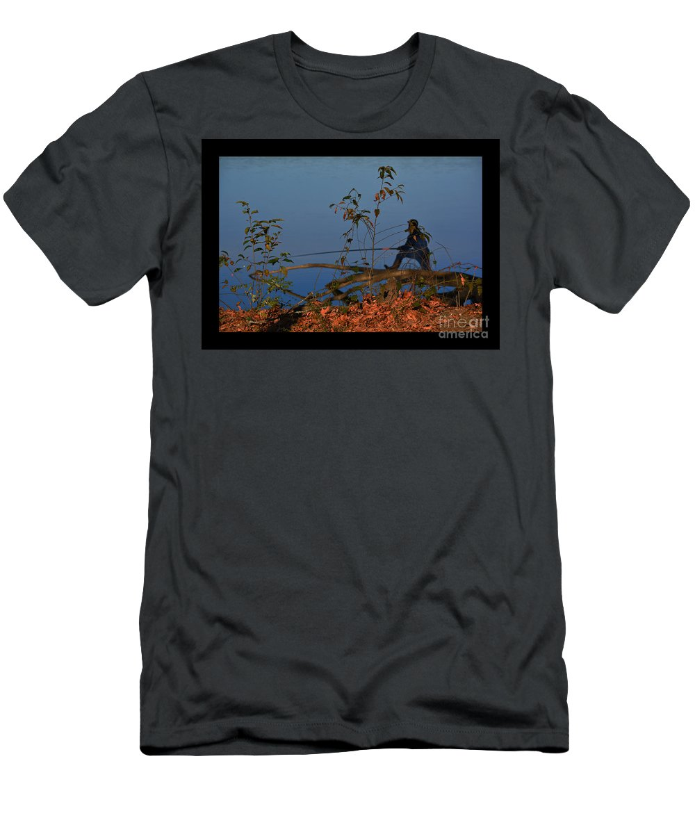 Fishing Men's T-Shirt (Athletic Fit) featuring the photograph The Fisherman by Barb Dalton