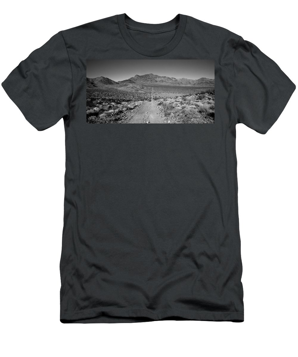 Road Men's T-Shirt (Athletic Fit) featuring the photograph The Forever Road by Peter Tellone