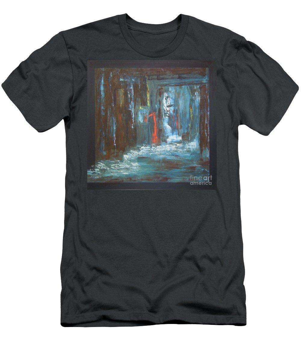 Abstract Men's T-Shirt (Athletic Fit) featuring the painting The Free Passage by Mini Arora