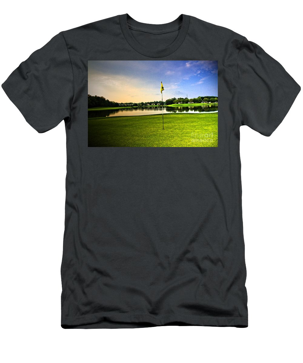 Golf Course Men's T-Shirt (Athletic Fit) featuring the photograph The Green by Scott Pellegrin