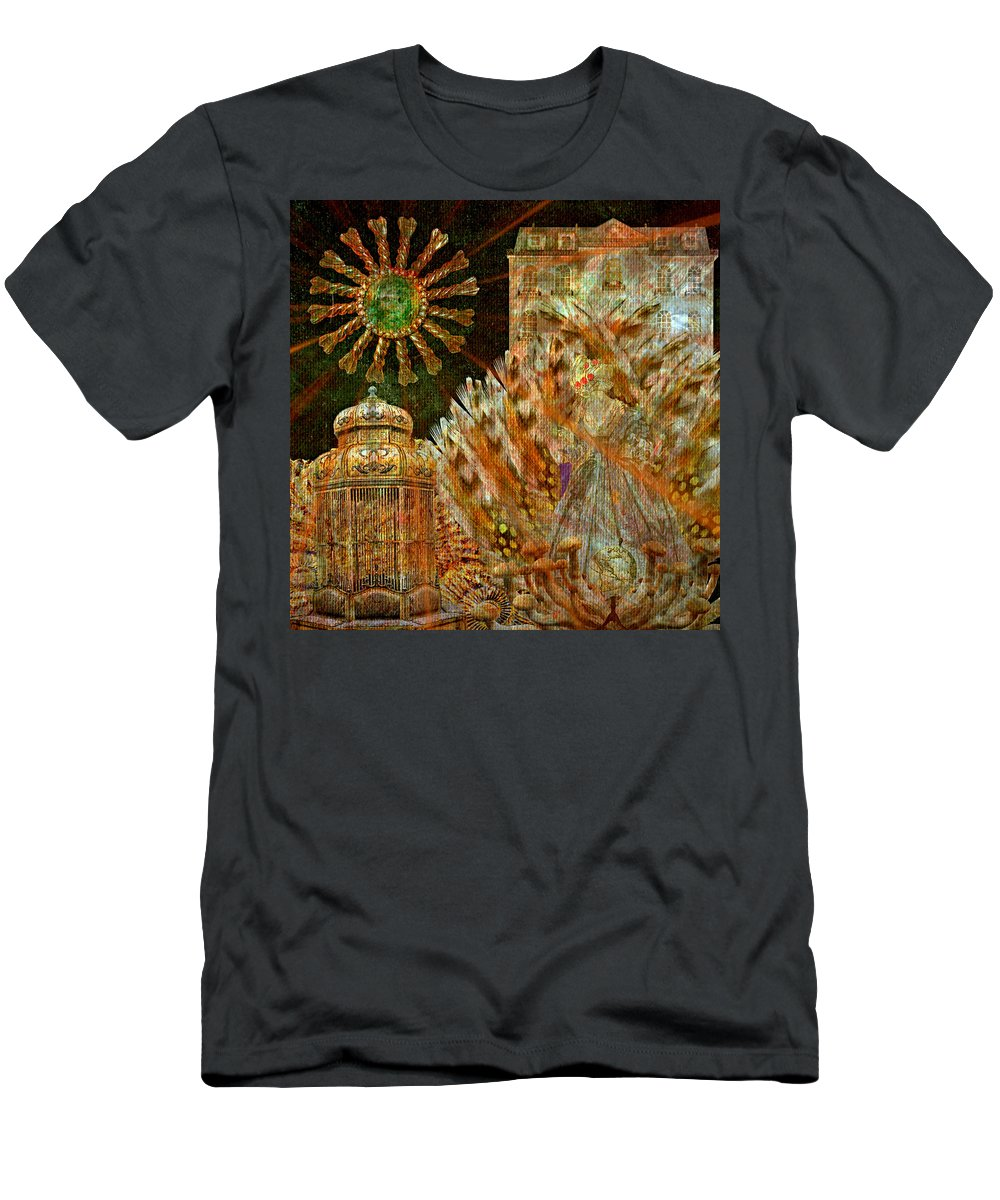 The History Of Consciousness Men's T-Shirt (Athletic Fit) featuring the digital art The History Of Consciousness by Ally White