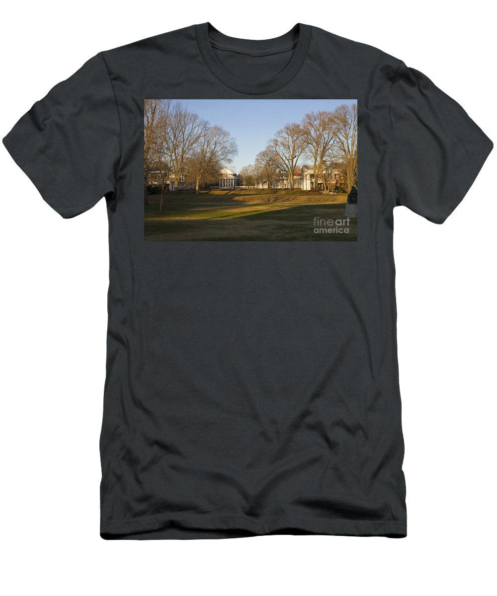 University Of Virginia Men's T-Shirt (Athletic Fit) featuring the photograph The Lawn University Of Virginia by Jason O Watson