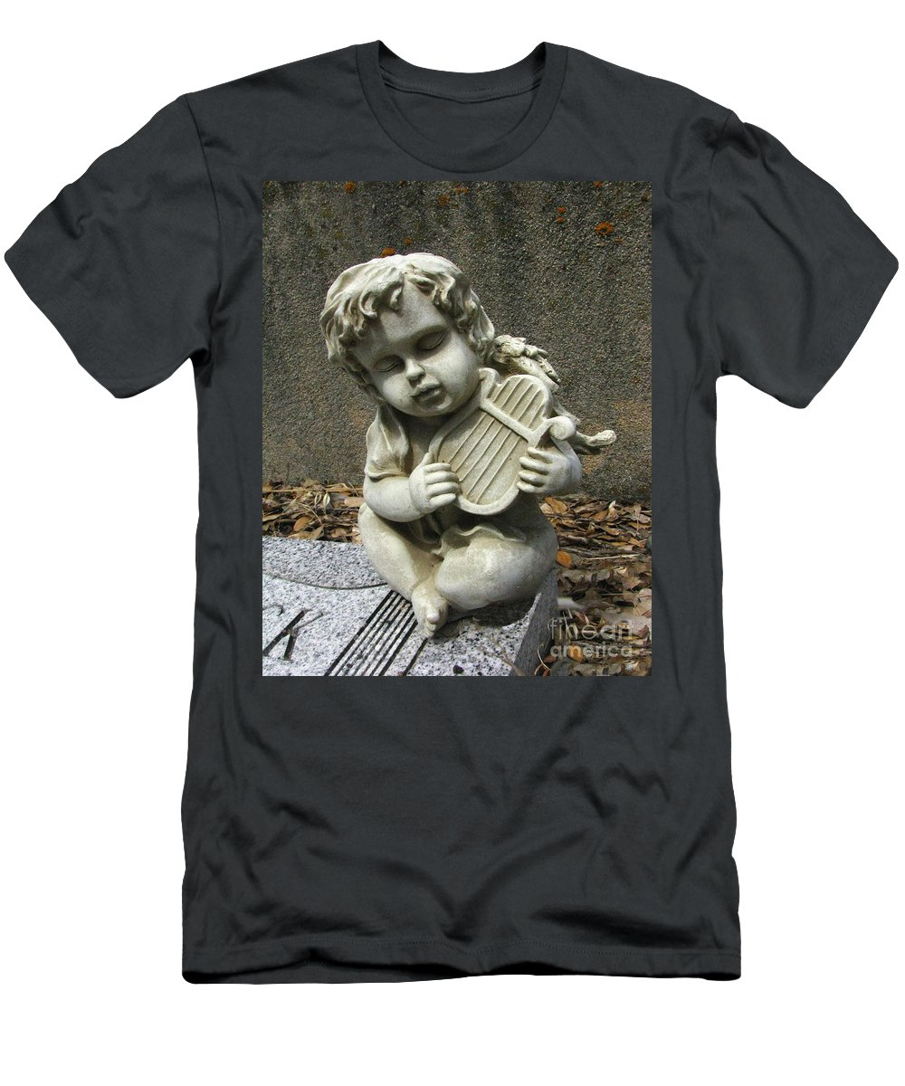 Cupid Men's T-Shirt (Athletic Fit) featuring the photograph The Musician 01 by Peter Piatt