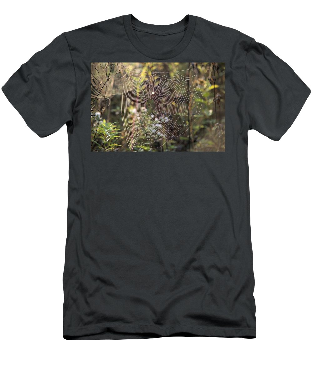 Abstract Men's T-Shirt (Athletic Fit) featuring the photograph The Net by Bonfire Photography