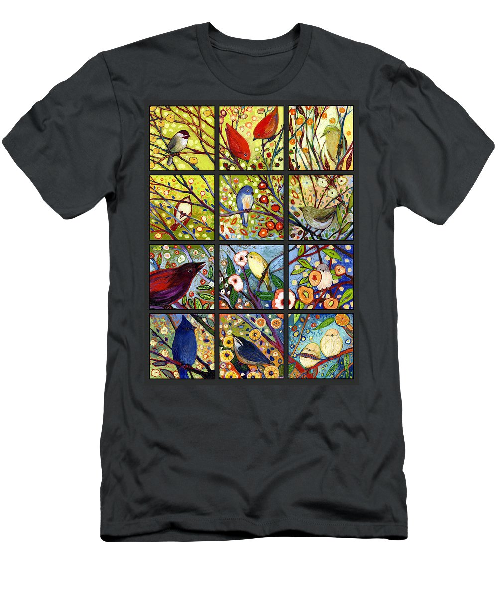 Bird T-Shirt featuring the painting The NeverEnding Story Set of 12 a2 by Jennifer Lommers