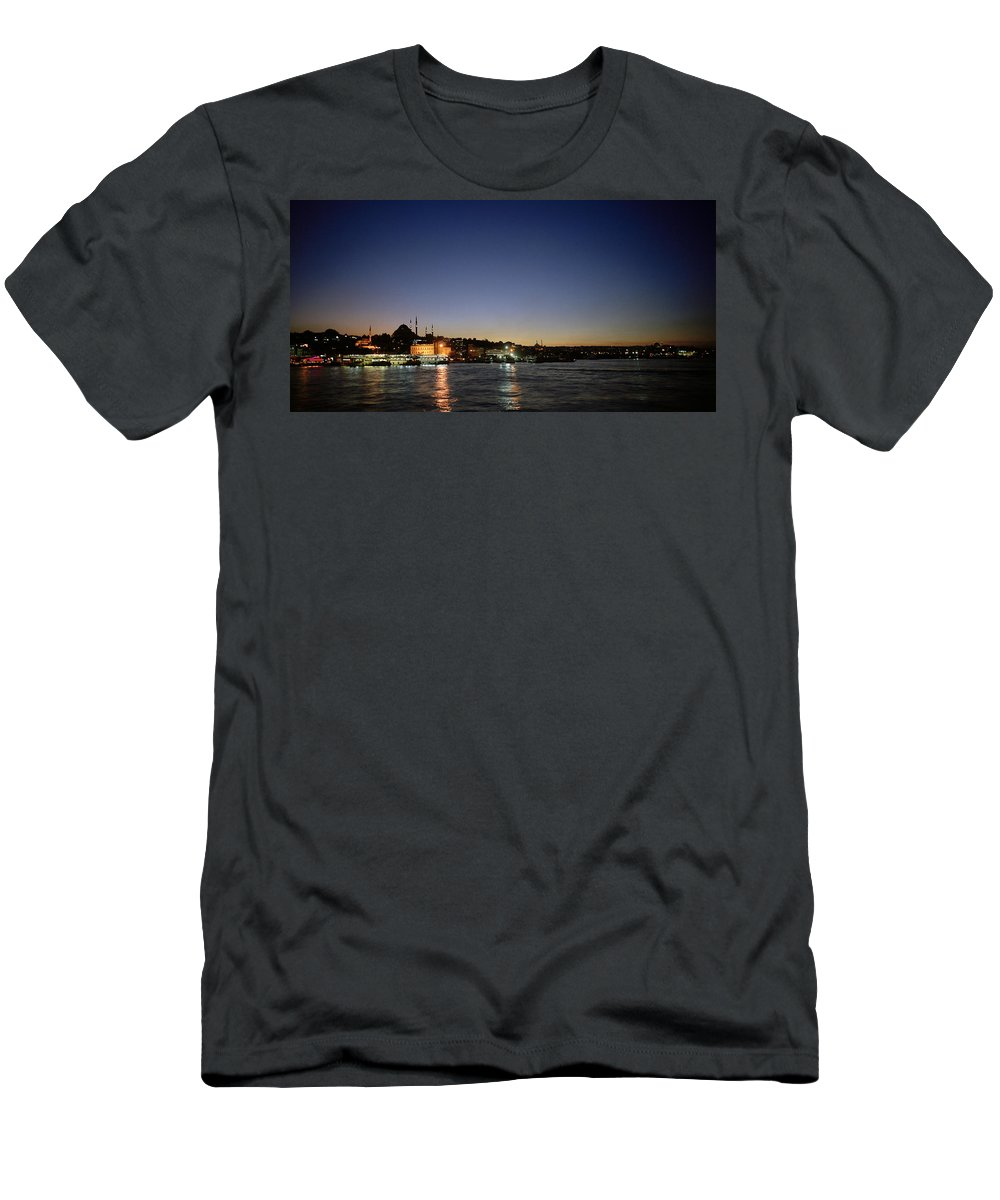 Night Men's T-Shirt (Athletic Fit) featuring the photograph Istanbul Nights by Shaun Higson
