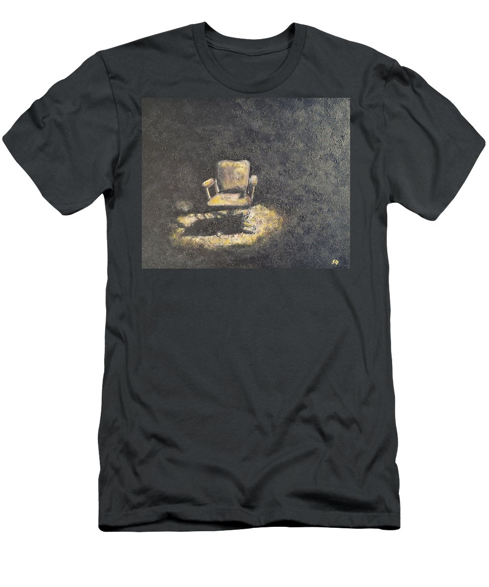 Chair Men's T-Shirt (Athletic Fit) featuring the painting The Office by Sara Gardner