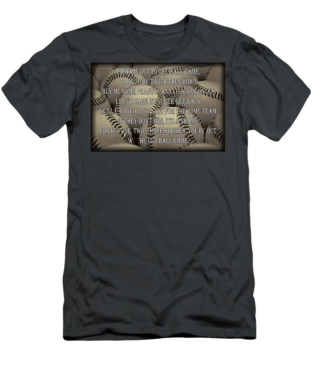 Take Men's T-Shirt (Athletic Fit) featuring the photograph The Old Ballgame by Ricky Barnard