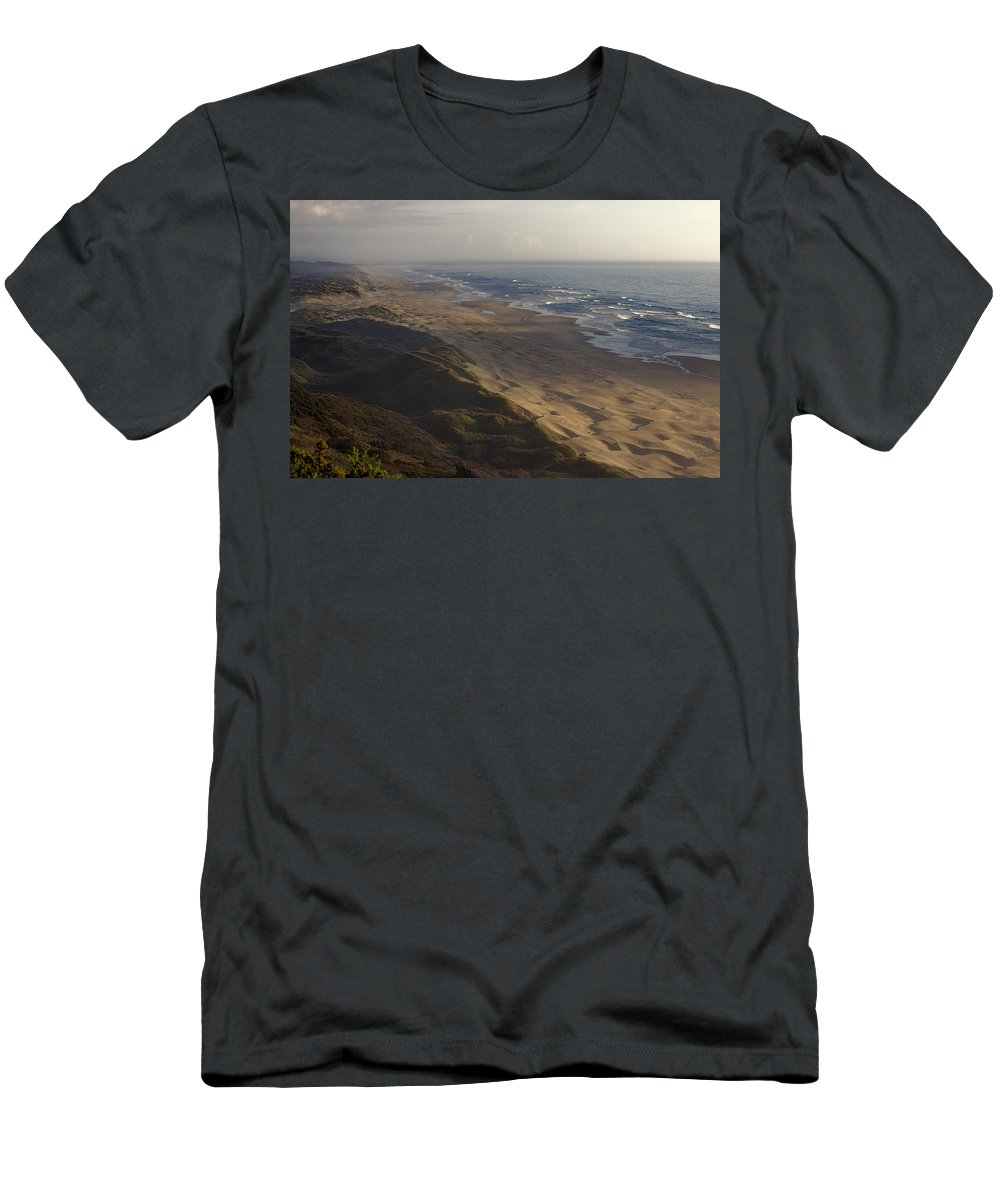 Men's T-Shirt (Athletic Fit) featuring the photograph The Oregon Coastline by Cathy Anderson
