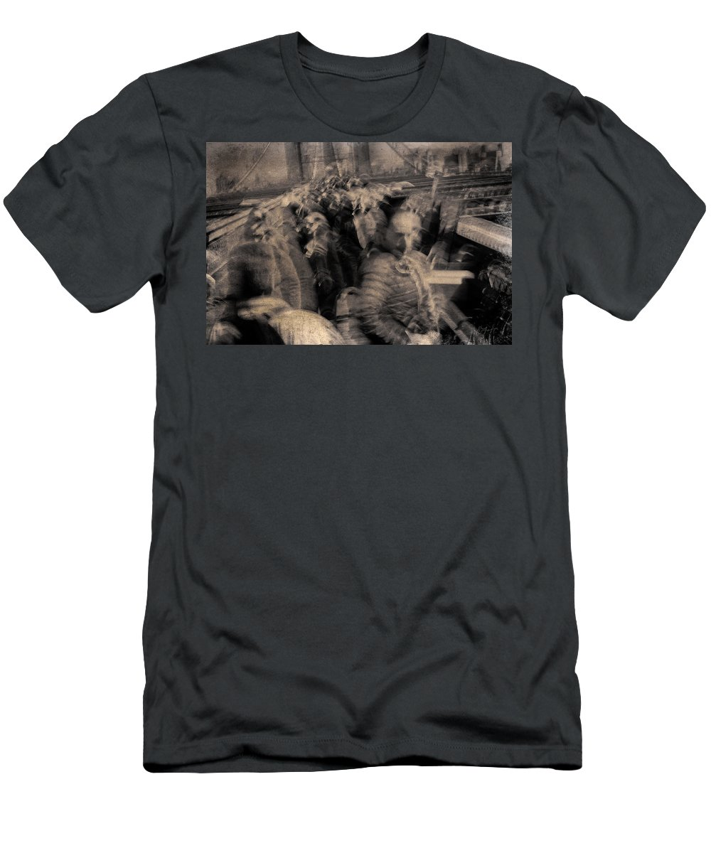New York Men's T-Shirt (Athletic Fit) featuring the photograph The People by Eric Ferrar