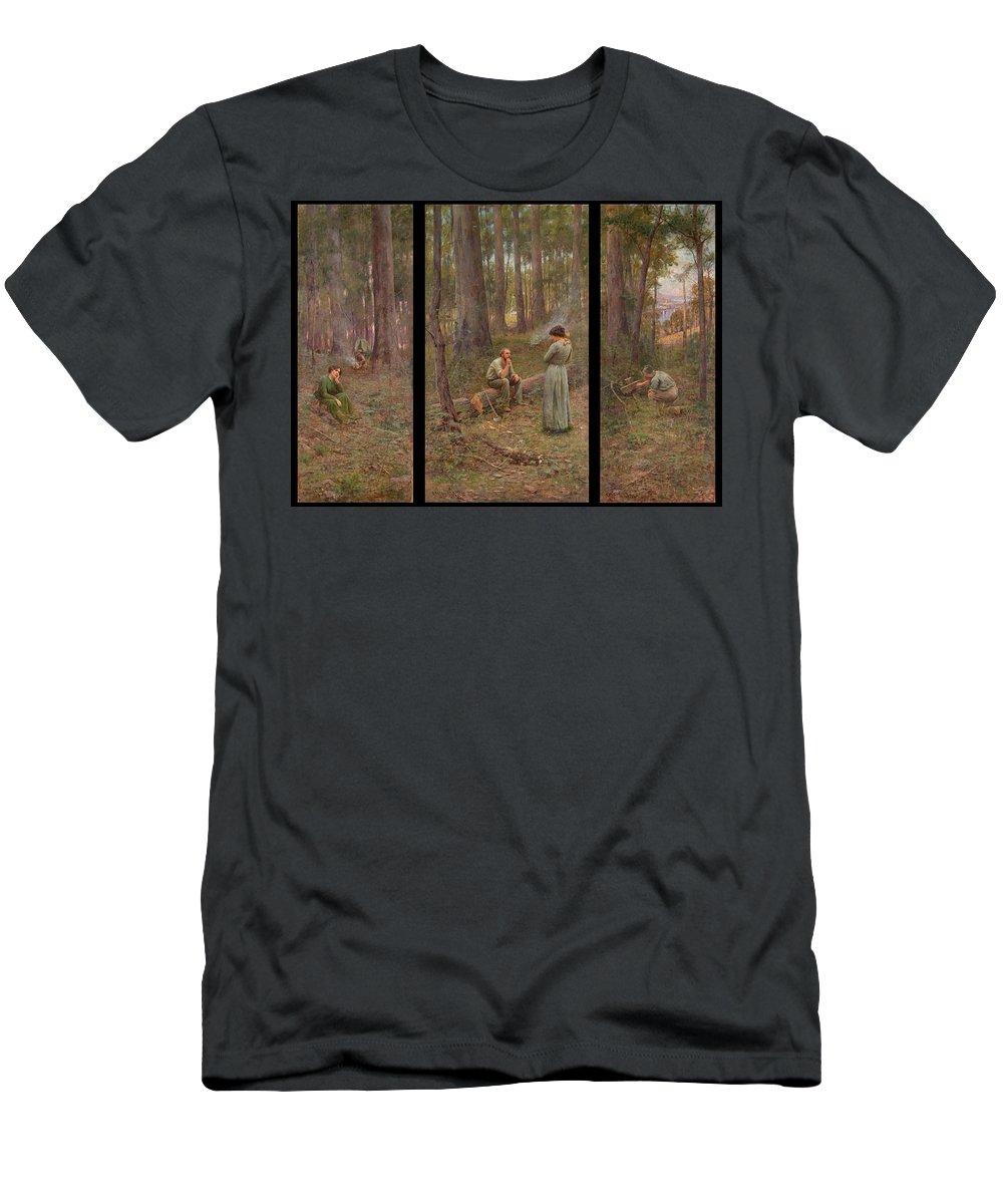 Frederick Mccubbin T-Shirt featuring the painting The pioneer by Frederick McCubbin
