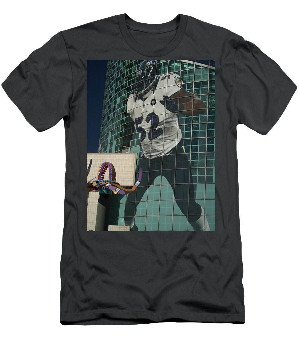 Color Image Men's T-Shirt (Athletic Fit) featuring the photograph The Player by Anthony Walker Sr
