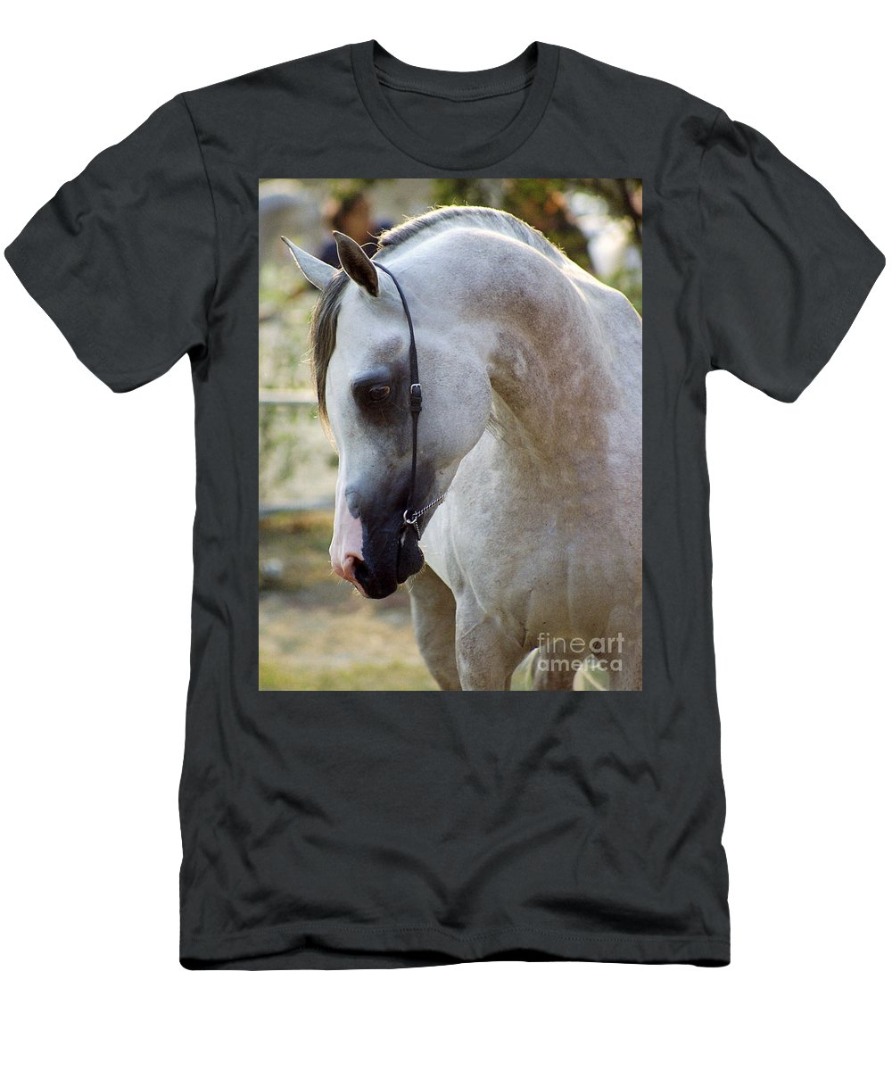 Horse Men's T-Shirt (Athletic Fit) featuring the photograph The Polish Arabian Horse by Angel Ciesniarska