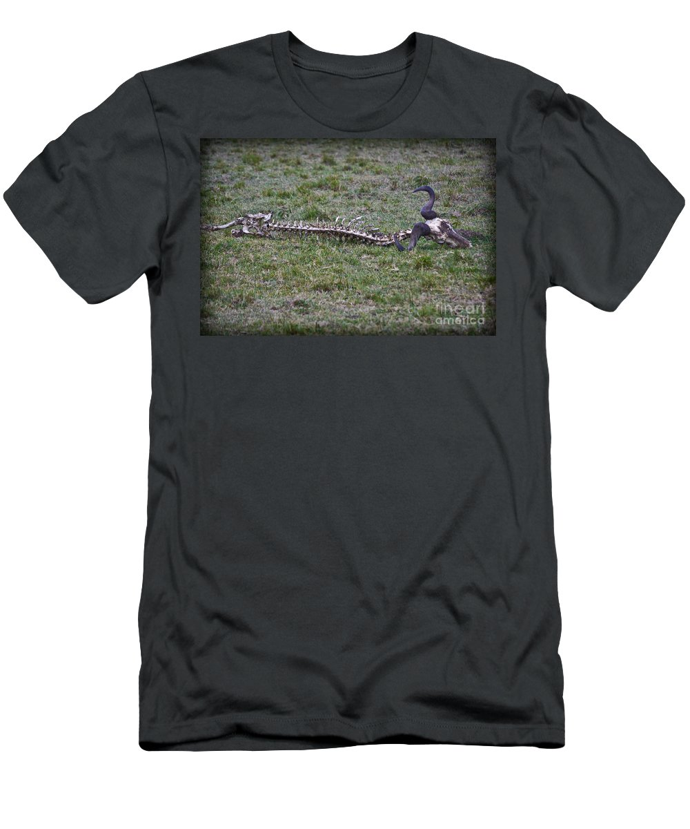 Buffalo Men's T-Shirt (Athletic Fit) featuring the photograph The Quick And The Dead by Gary Keesler