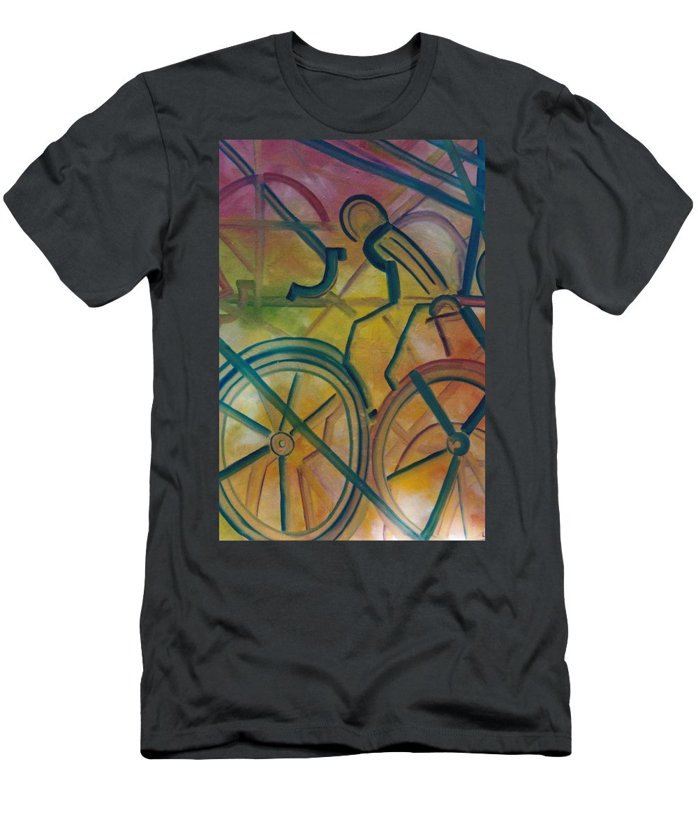 Race Men's T-Shirt (Athletic Fit) featuring the painting The Race by Lord Frederick Lyle Morris
