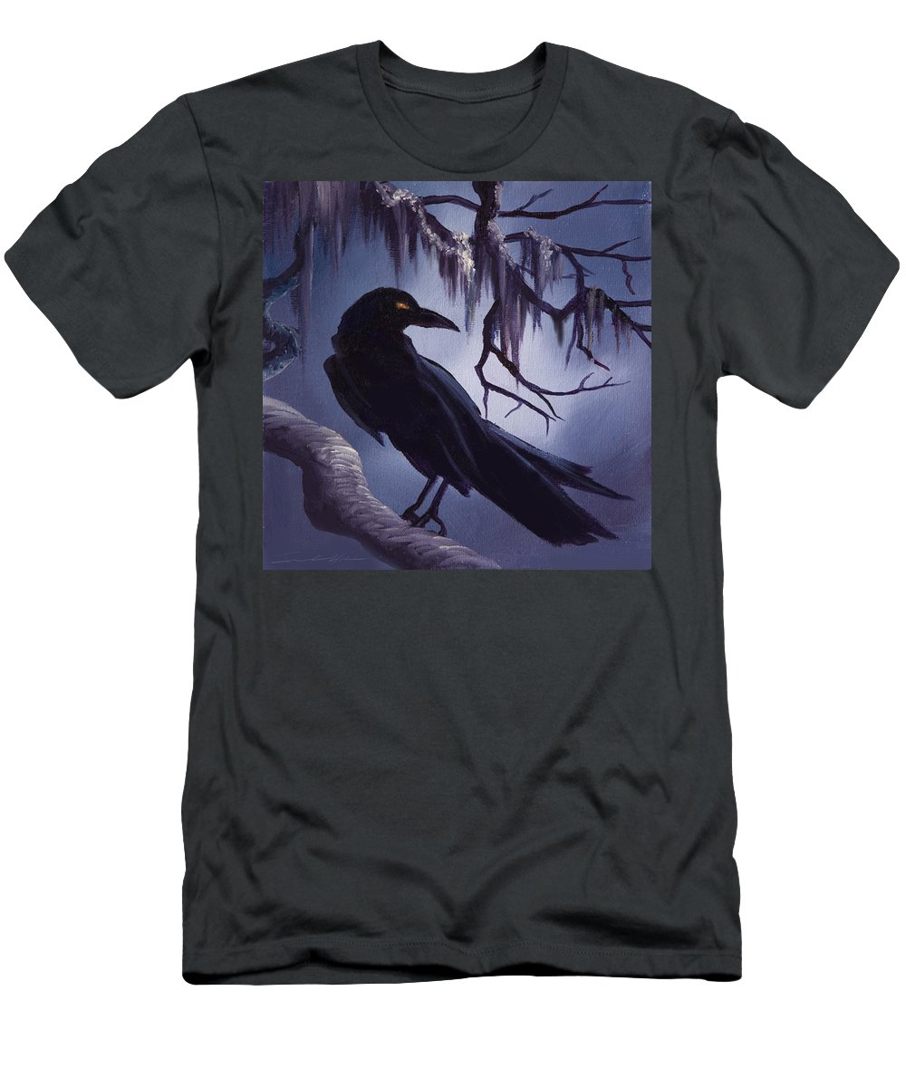 James C. Hill T-Shirt featuring the painting The Raven by James Christopher Hill