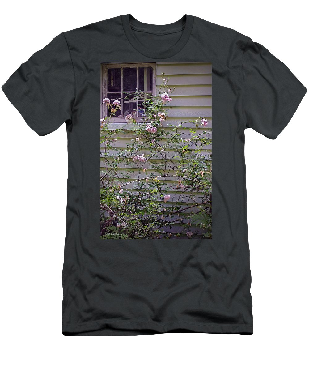 2d Men's T-Shirt (Athletic Fit) featuring the photograph The Rose Shed by Brian Wallace